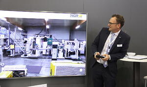 Virtually navigate a plastic recycling plant with a gamepad | NavVis