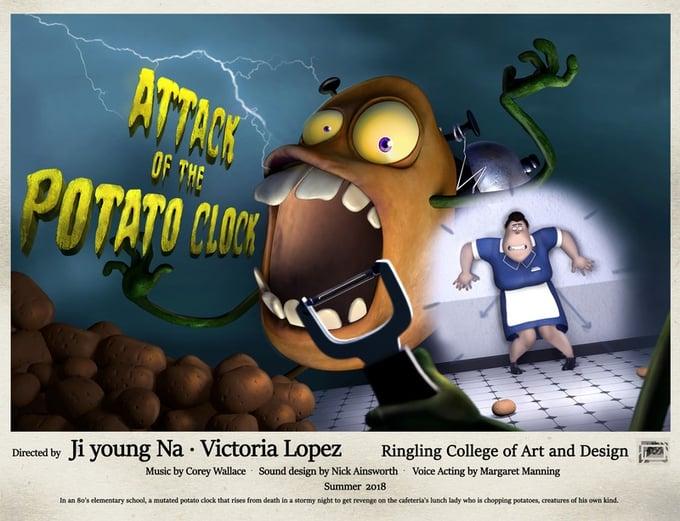 Attack-Of-The-Potato-Clock-poster