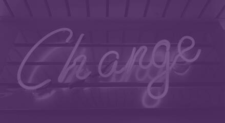 Change neon sign_purple