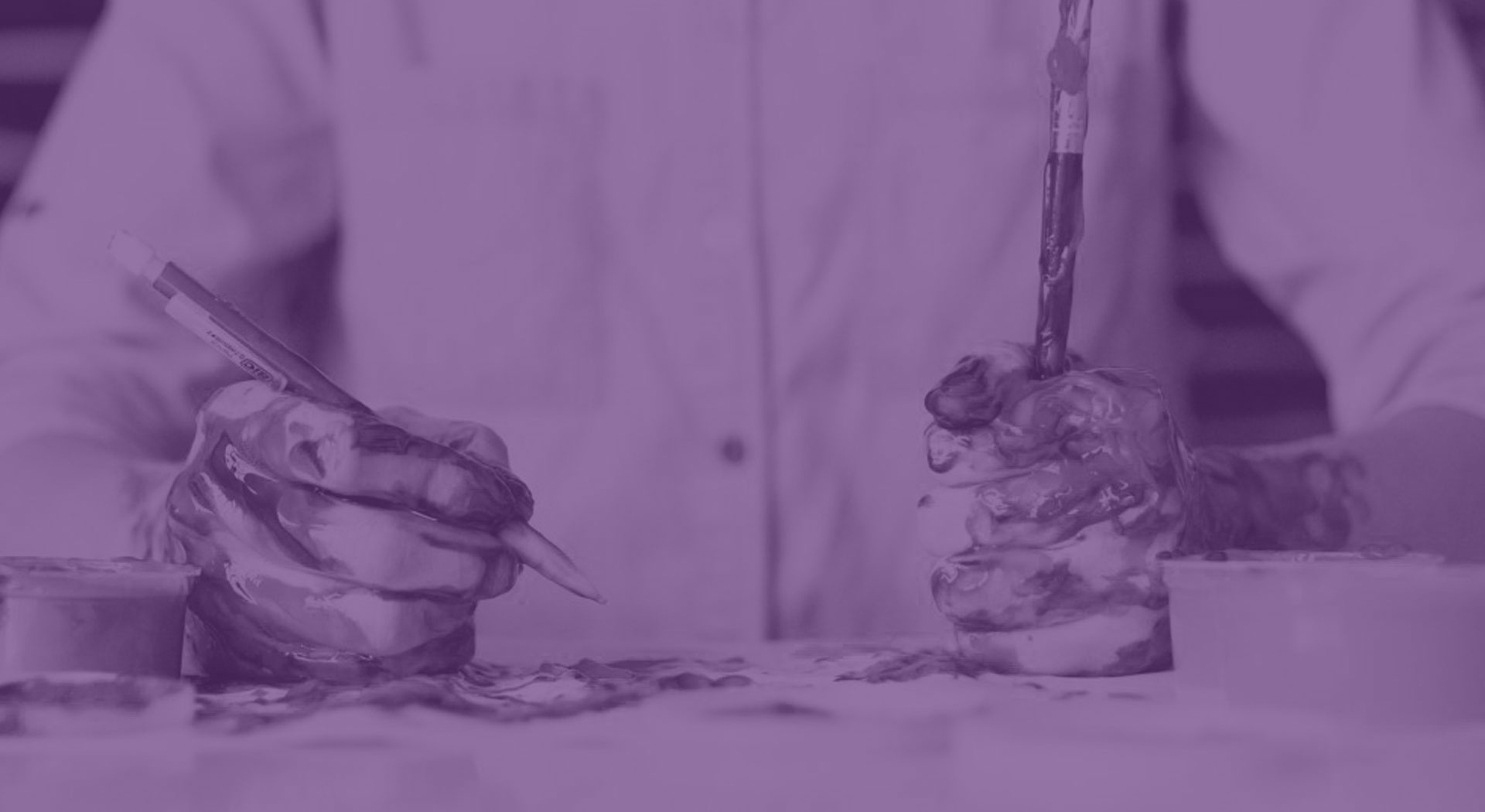 Hands with paint_purple