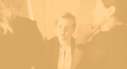 Woman looking on_tan
