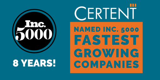 Business Continues To Boom: Certent Added to Inc. 5000--Again!