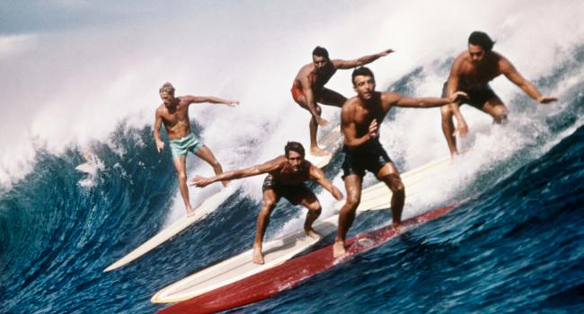 1960S 1970S Five Men Surfing