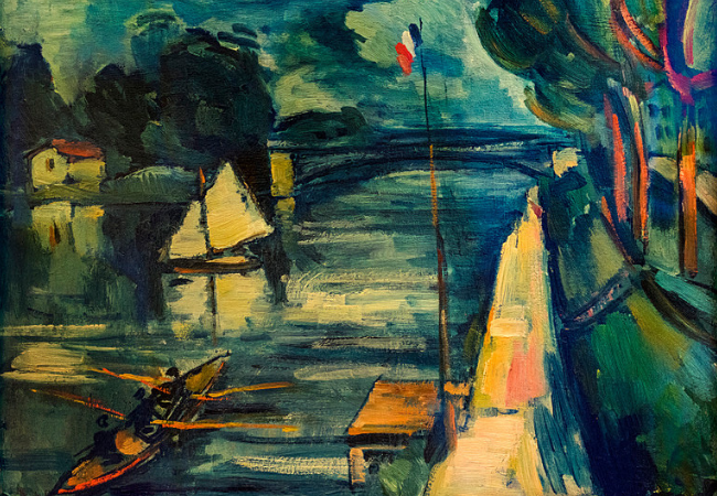 The Seine at Chatou 1908 Oil on canvas by Maurice de Vlaminck