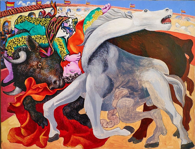 France, Paris, Picasso museum, Bullfight : death of the torero, 1933.