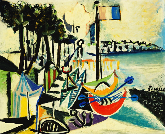 Juan-les-Pins. Pablo Picasso (1881-1973). Oil on canvas. Painted on 13 August 1937. 38.1 x 46cm