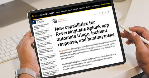 (IN)SECURE Magazine's HelpNetSecurity highlights ReversingLabs role in the SOC