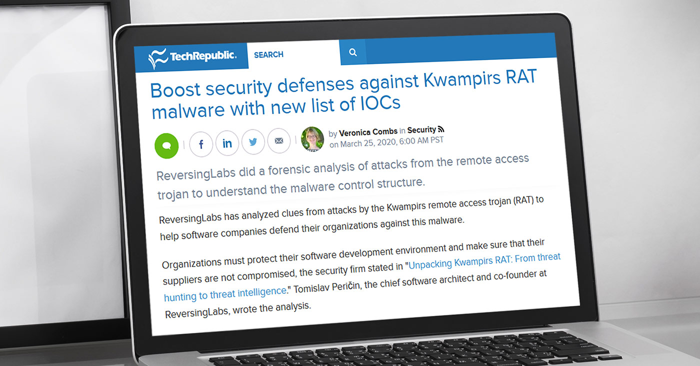 TechRepublic: Boost security defenses against Kwampirs RAT malware with new list of IOCs