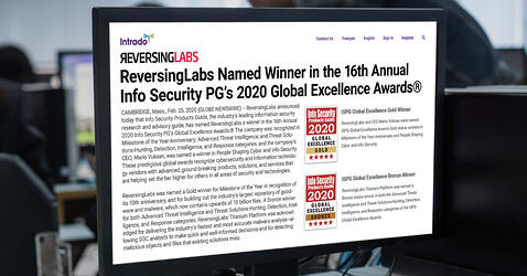 Newswire: ReversingLabs Named Winner in the 16th Annual Info Security PG's 2020 Global Excellence Awards®