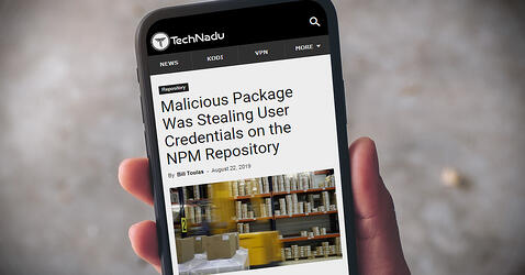 Malicious Package in NPM Repository Supported Theft of User Credentials