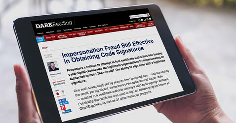 DARK Reading interviews ReversingLabs co-founder Tomislav Pericin about recent impersonation fraud research