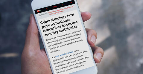 ZDNet speaks with ReversingLabs about threat actors masqueradeing as trusted parties