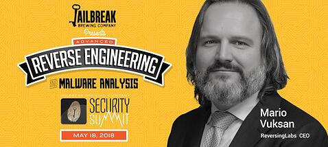 Mario Vuksan, CEO of ReversingLabs, speaking at the Jailbreak Brewing Company Security Summit