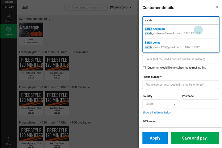 New POS Customer Search Function