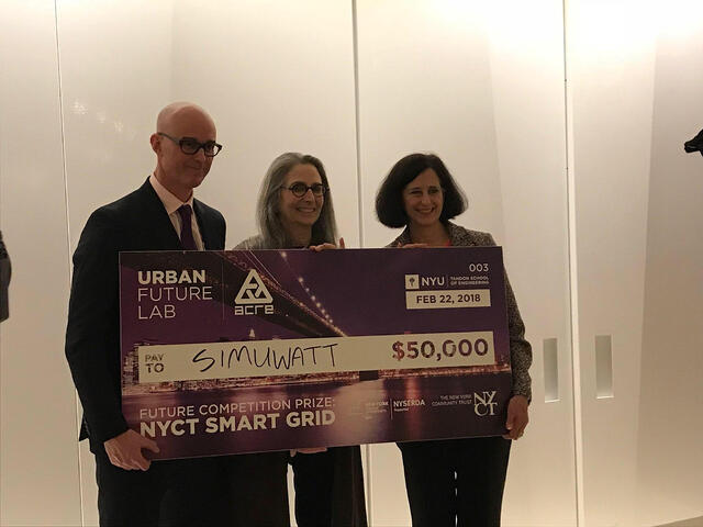 simuwatt CEO/Co-Founder Oliver Davis Accepting Urban Future Competition Prize