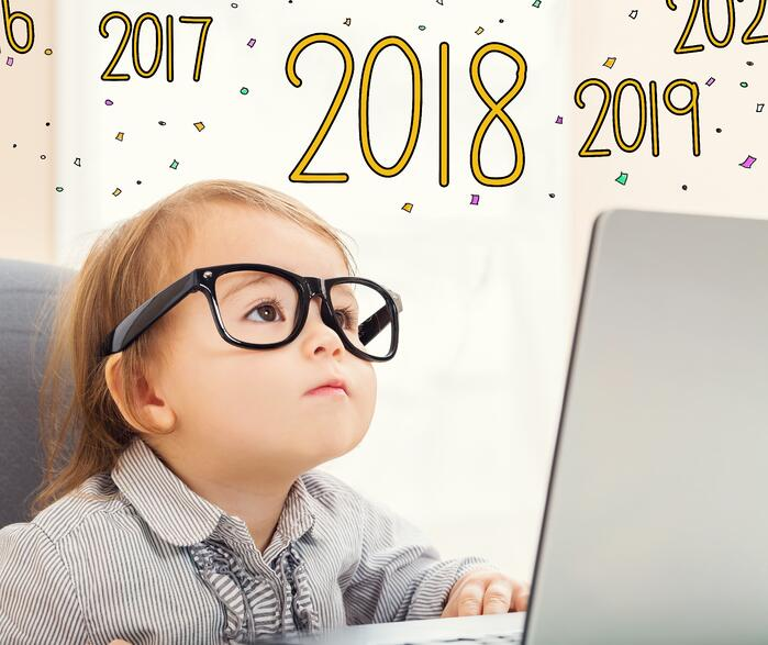 toddler at computer for 2018