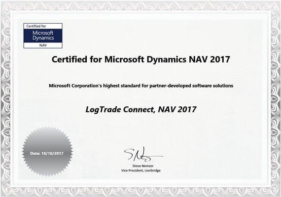 Certifiering NAV LogTrade