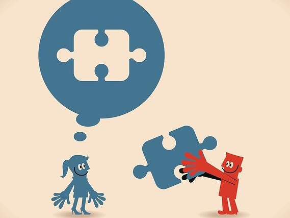 man-and-woman-with-blank-jigsaw-puzzle-speech-bubbles-solutions-vector-id468420142