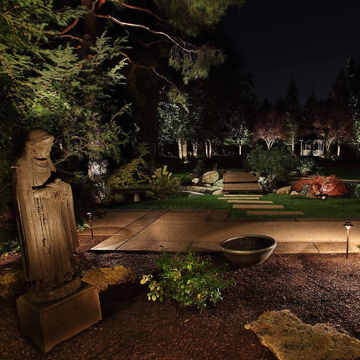 5 Ways To Add Landscape Lighting To Concrete Hardscaping