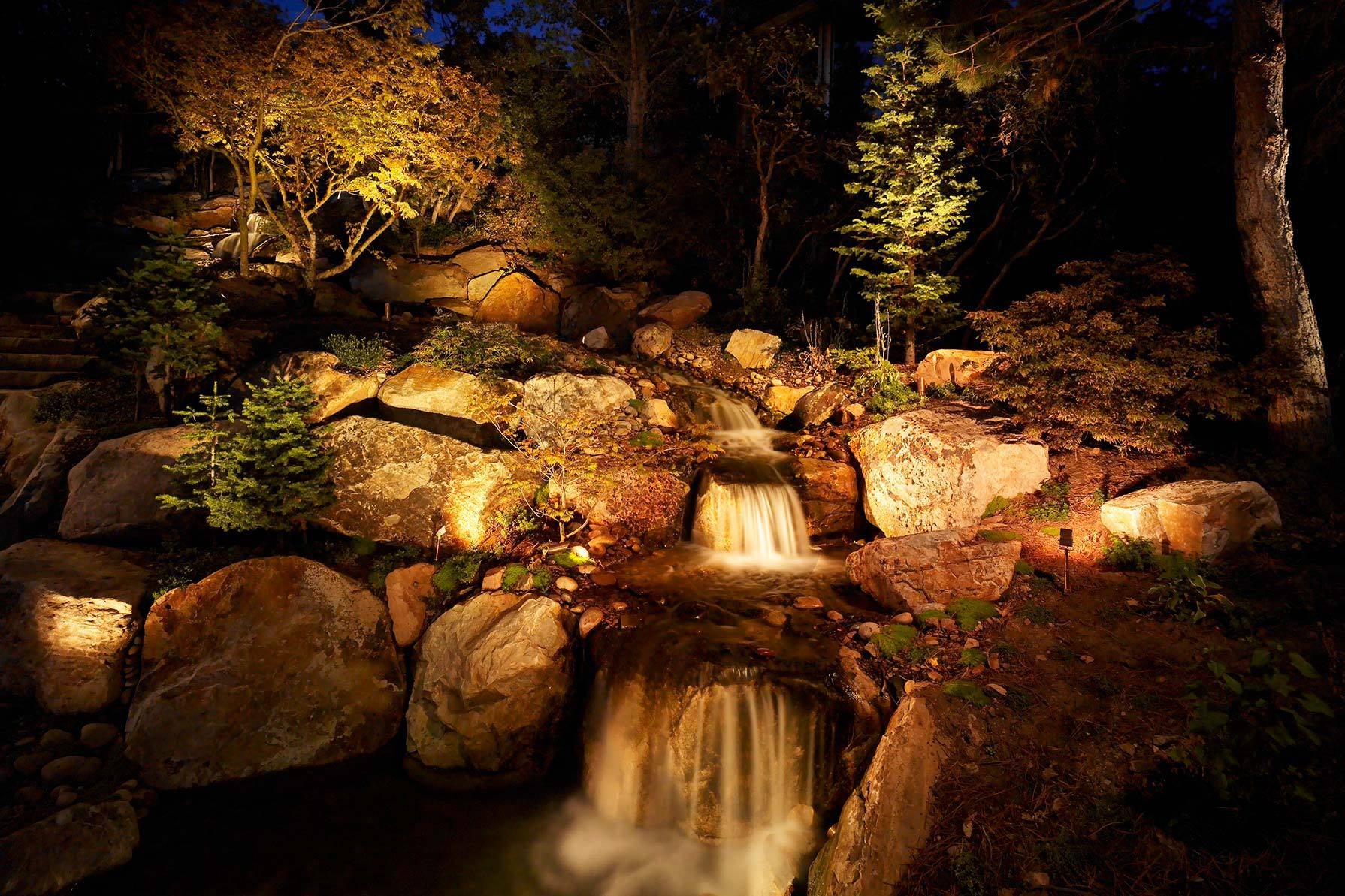 Water Feature Pond And Pool Lighting Ideas And Pictures
