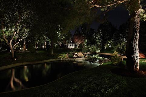 pond-pool-and-water-feature-tree-lighting-holladay-utah