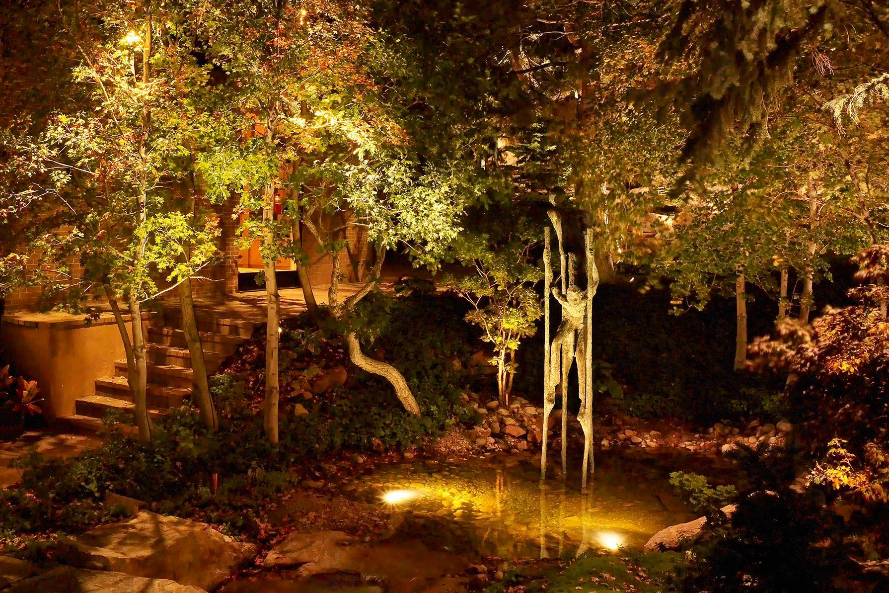 The bright ideas blog landscape lighting pro of utah down lighting ponds and water features do a lot for the tranquility and beauty of your landscape and outdoor living space it only makes sense to light them and extend mozeypictures Images