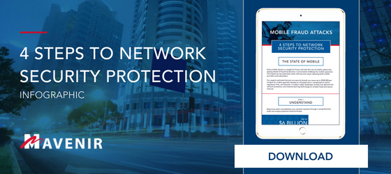 4 Steps to Network Protection Infographic