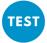 Blue TEST button white text
