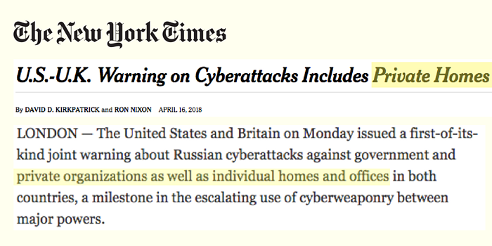 NY Times Apr16 US UK warn router attacks