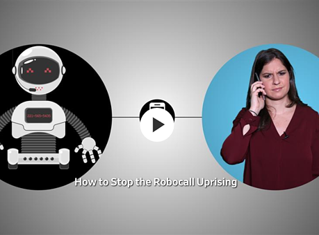 woman robo call