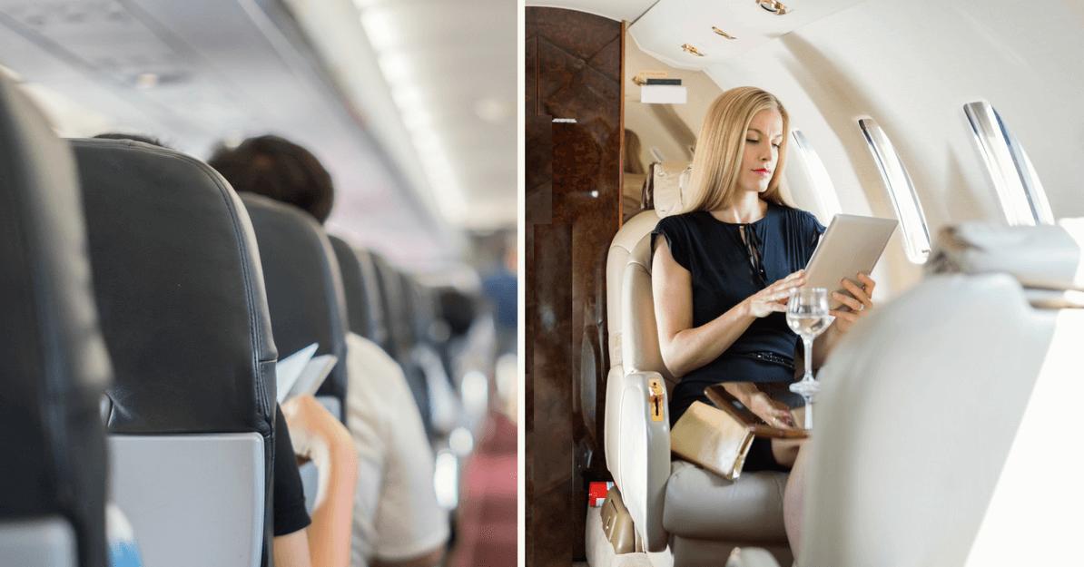 coach class crown vs private jet security