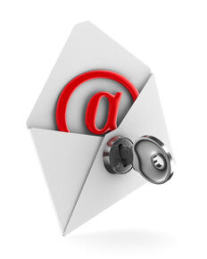 email with domian key red ampersand image