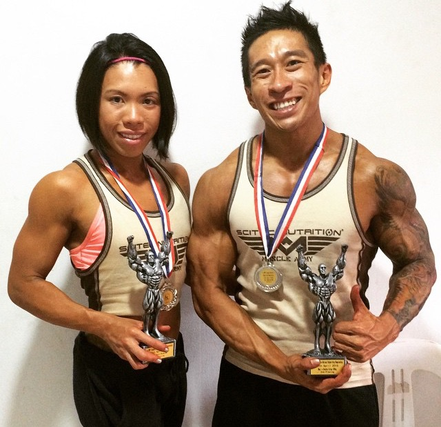 Coach Jia and the 2015 WBPF National Body Building Championships.