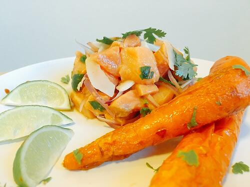 Coconut Ceviche with Glazed Carrots | UFIT Kitchen