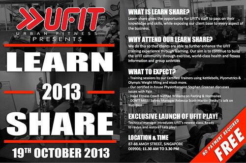 UFIT is opening its doors for a free learn share event, will be lots of fun, get involved!
