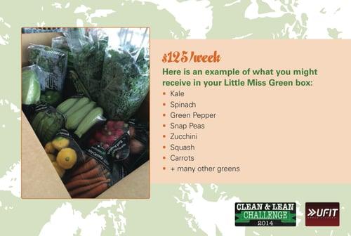 Little Miss Green Veggie Box.