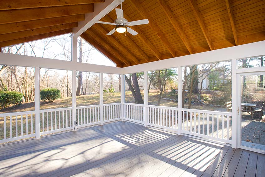 How long should it take to build a screened in porch How much to build a house in northern virginia