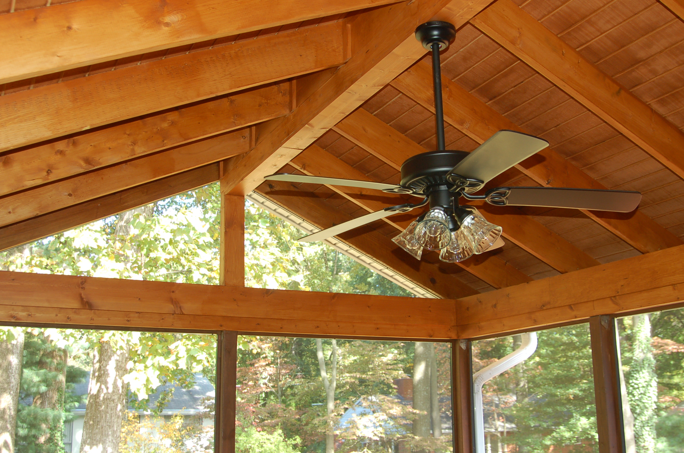 Screen Room In Bethesda Maryland With A Natural Hardwood Deck