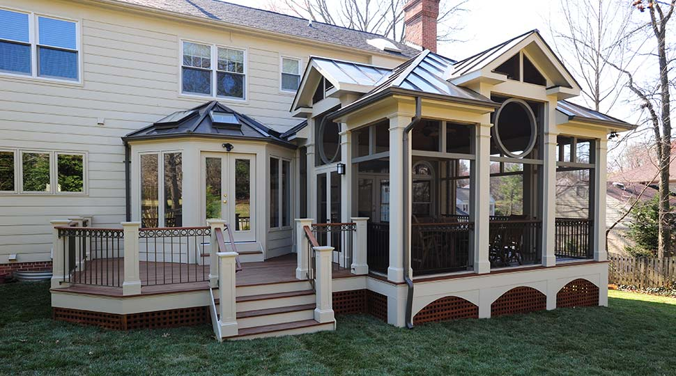 Full service remodeling and decking contractor in md va for Porches login