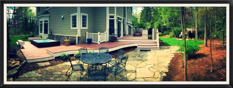 Zuri decking in Maryland panorama small frame