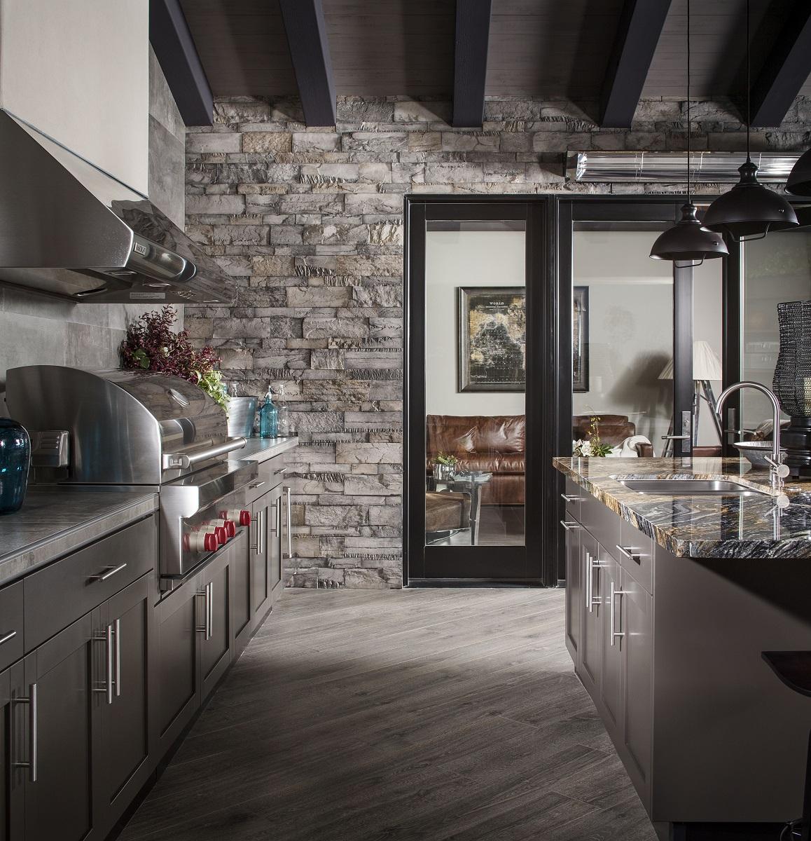 Stainless Steel Tall Kitchen Cabinet: Danver Stainless Outdoor Kitchen Metallic Bronze Matte