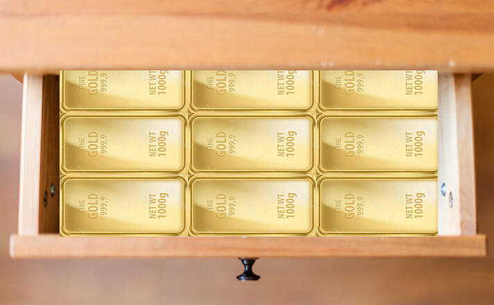Gold in the bottom drawer
