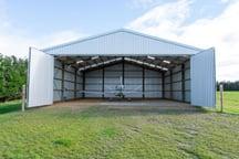 Clearspan airplane hangar