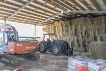 Large hay storage shed