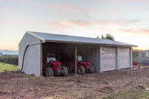 Farm storage is safe and secure in an Alpine shed