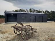 Enclosed coloursteel shed