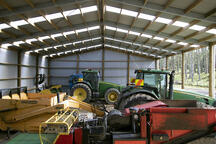 Semi-enclosed implement shed NZ