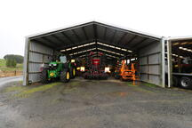 Look at the depth of this farm storage shed