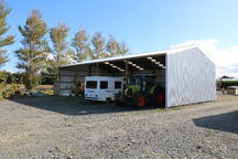 Implement storage shed with zincalume