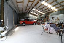 This lifestyle workshop shed is used as a man cave